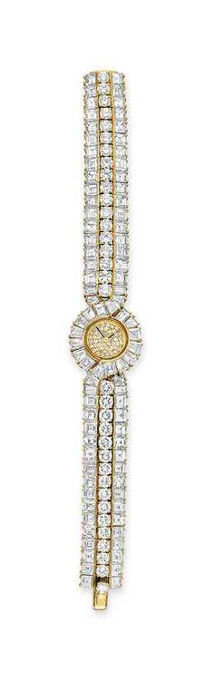 A gold and diamond wristwatch, by Graff #christiesjewels