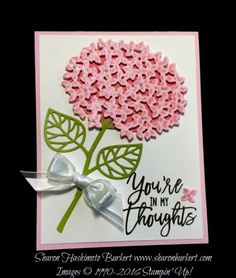 Thoughtful Branches stamp set www.sharonburkert.com #stampinup. (Pin#1: Flowers: SU-3D/ Dies...)