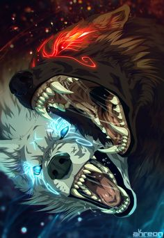 Hati vs Skoll by akreon.deviantart.com on @DeviantArt