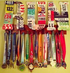race medal display rack, running medal rack, race medal display case, how to display race medals