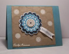 using Stampin Up Quint Essential Flower