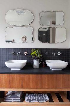 Mid century modern bathroom bathroom midcentury interesting ideas with black tile backsplash open va