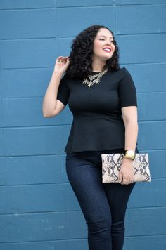 Love this top! From the GirlWithCurves tumblr site. She has fabulous style.
