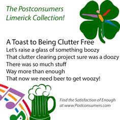 Fun Postconsumer Limericks: Clutter Free