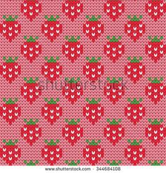 Find Knitted Seamless Pattern Strawberries stock images in HD and millions of other royalty-free stock photos, illustrations and vectors in the Shutterstock collection. Baby Knitting Patterns, Knitting Charts, Crochet Patterns, C2c Crochet, Crochet Chart, Crochet Basics, Crochet Bedspread Pattern, Tapestry Crochet, Crochet Woman