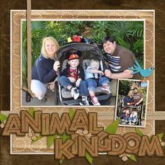 Disney World Scrapbook Page Layouts | Disney Scrapbook Page Layouts / Animal Kingdom