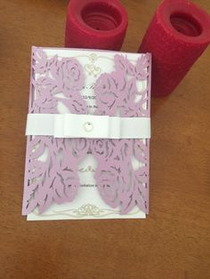 12 Purple laser cut wedding  card Envelope  | eBay