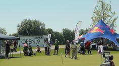 Sportliches Team-Event im OPEN.9 Golf Eichenried in München.