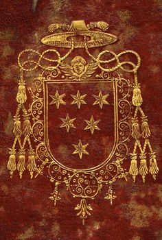 """Emilio Altieri, cardinal, qui deviendra pape sous le nom de Clément X, 1590-1676. Devenu docteur en droit civil et canonique en 1611, Emilio Altieri entama ensuite une carrière ecclésiastique. Il fut nommé nonce à Naples en 1644, devint cardinal en 1669, puis fut élu pape en 1670. -- """"d'azur à six étoiles d'argent""""."""