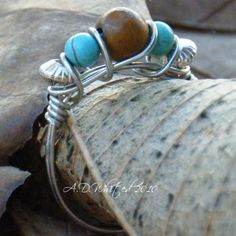 Tutorial - Five Bead Wire Wrapped Ring love it! must try! #ecrafty