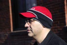 "See--warm ears while wearing a baseball cap! ""Tutorial on how to make this Fleece Ball Cap Ear Warmer""...gp"
