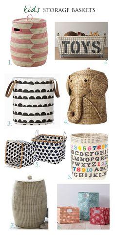 Kids Storage Baskets Ideas « Spearmint Baby- I have s basket obsession! Kids Storage Baskets, Baby Storage, Toy Storage Bins, Storage Ideas, My Baby Girl, Baby Love, Spearmint Baby, My Bebe, Nursery Inspiration