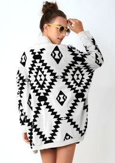 #Chicwish Aztec Open Knit Cardigan - Tops - Retro, Indie and Unique Fashion