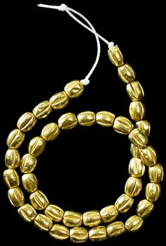 Ancient Greek gold Baktrian beads