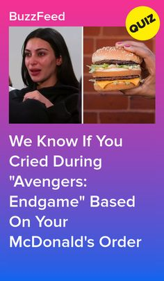 """We Know If You Cried During """"Avengers: Endgame"""" Based On Your McDonald's Order Ice Caramel Macchiato, Caramel Latte, Buttermilk Crispy Chicken, Sausage Mcmuffin, Birthday Card Pop Up, Buzzfeed Community, Iced Mocha, Cheese Biscuits, Quizes"""