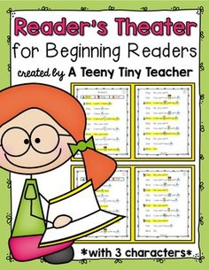 Reader's Theater for Beginning Readers! - These plays can be used for centers, Language Arts activities, fluency practice, partner reading, etc. This particular pack has 3 characters for those times when you find you have an odd number of students due to enrollment, absences, pull-out programs, etc...