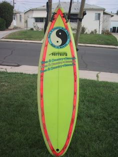 80s town & country surfboard