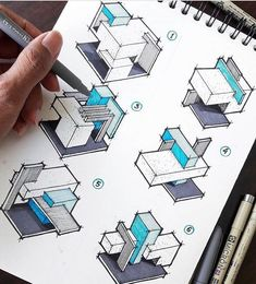 Awesome sketch of boxes composition 😍 Which one do you like ? Awesome sketch of boxes composition 😍 Which one do you like ? - Awesome sketch of boxes composition Interior Architecture Drawing, Concept Models Architecture, Architecture Presentation Board, Architecture Concept Drawings, Architecture Sketchbook, Architecture Design, Art Du Croquis, Cube Design, Sketch Design