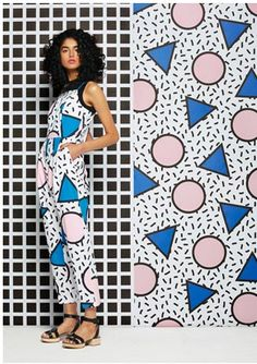 camille walala for gorman - pop pantsuit