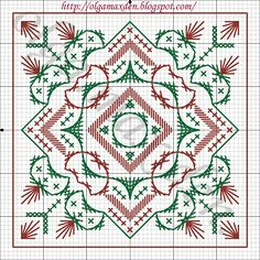 Cross-stitch LIVE, LAUGH, LOVE Biscornu ... no color chart available, just use pattern chart as your color guide.. or choose your own colors...  : Калейдоскоп - схема
