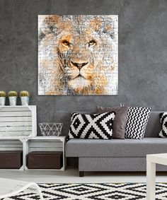 tableau-deco-animal-lion-aquarelle-03 Paintings I Love, Watercolor Paintings, Abstract Animal Art, Art Sculpture, Restaurant Design, Animals And Pets, Wildlife, Artsy, Wall Decor