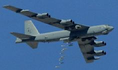 B-52 Dropping Bombs | Aug. 17) -A U.S. B-52 bomber drops 500-pound bombs during a 2007 ...