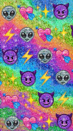 Emoji Wallpaper Iphone, Cute Emoji Wallpaper, Cute Disney Wallpaper, Aesthetic Iphone Wallpaper, Cool Wallpaper, Tumblr Backgrounds, Wallpaper Backgrounds, Alien Emoji, Emoji Drawings