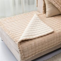Quilted Furniture Protectors//Armchair Organiser Cream 2 Seater Cover 35 x 70