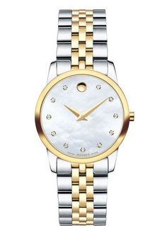 Movado Women's Gold-Plated Museum Classic Watch with Mother of Pearl Museum Dial 0606613