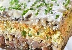 Salad with herring. Fish Recipes, Salad Recipes, Snack Recipes, Cooking Recipes, Healthy Recipes, Lithuanian Recipes, Russian Recipes, European Cuisine, Good Food