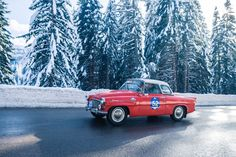 Photo gallery, race results and report from Winter Marathon Rally staged January at Madonna di Campiglio in the Dolomite Mountains of Italy. Felicia, Rally, Marathon, Vintage Cars, Classic Cars, Vehicles, Winter, Autos, Winter Time