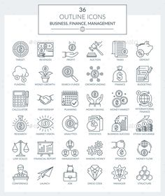 Buy Outline Icons Business and Finance by Kalashnyk on GraphicRiver. Set of modern outline Icons of business, finance, banking and management. Available in: AI, EPS, SVG (separate icons). Business Icon, Business Money, Finance Business, Icon Design, Logo Design, Graphic Design, People Illustration, Outline, Massage