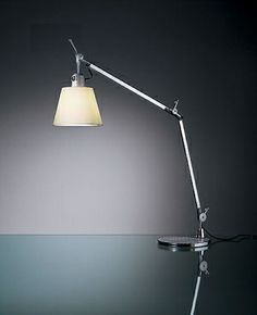 Artemide Tolomeo with shade table lamp by Michele De Lucchi and Giancarlo Fassina #artemide #modernlighting #tolomeo
