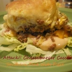 Mac Attack!! Cheeseburger Casserole. Just like a big mac only in a casserole. Complete with special sauce!