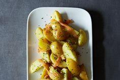 Tarragon Potato Salad with Cured Salmon and Lemon Vinaigrette #recipe