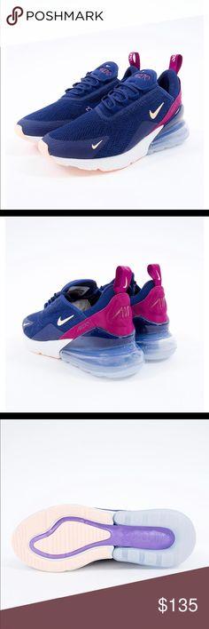 Rabatt Womens Nike Air Max 270 Blue Void Navy AH6789 402