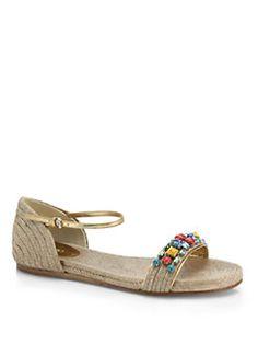 Gucci - Carolina Jewel Espadrille Sandals