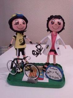 Un ciclista  y una oftalmologa