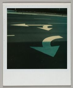 Walker EVANS :: Street Arrows [Polaroid], December 1974