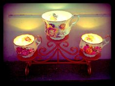 tea cup tea lights