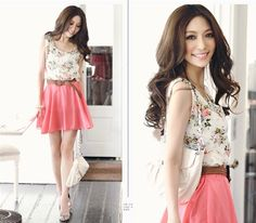 Lovely korean summer outfit,