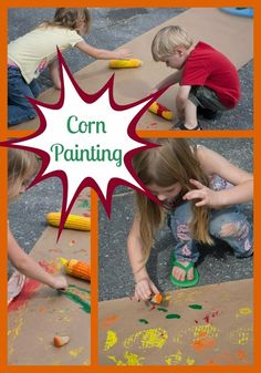 Life with Moore Babies: Corn Painting