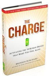 The Charge by @brendonburchard - a life changing book.  What makes you feel alive?
