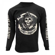 Sons of Anarchy Long Sleeve Reaper T-Shirt [Black]