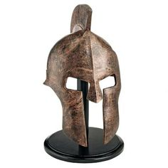 Design Toscano Greek Spartan Helmet Corinthian Armor Statue with Stand 16 Inch Polyresin Bronze Finish -- You can get more details by clicking on the image-affiliate link. Greek History, Ancient History, Spartanischer Helm, Spartan Helmet, Greek Culture, Ancient Artifacts, Greek Artifacts, Ancient Greece, Archaeology