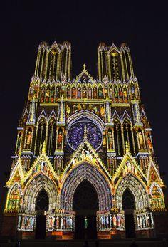les polychromies - Cathédrale de Reims - Champagne-Ardenne