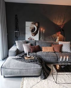 21 grey small living room apartment designs to look&; 21 grey small living room apartment designs to look&; Ramona Rockabella Home 21 grey small living room apartment designs […] living room Boho Living Room, Cozy Living Rooms, Living Room Lighting, Apartment Living, Masculine Living Rooms, Bohemian Apartment, Colorful Apartment, Rustic Apartment, Cozy Apartment