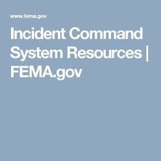 Incident Command System Resources | FEMA.gov