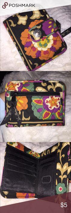 Flower Pattern Vera Bradley wallet Cute little Vera wallet to fit in a smaller purse. Great condition! Vera Bradley Bags Wallets
