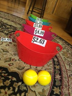 Bozoo bucket themed math game with adding 3 digit decimal numbers!